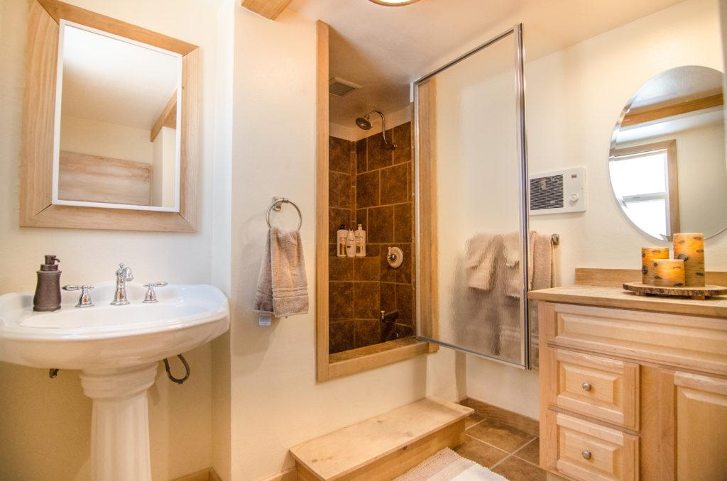 Bathroom attached to queen bedroom